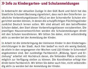 2016_03_16_Ehrenamtsnewsletter der Stadt_Info zu Kindergarten und Schulanmeldungen
